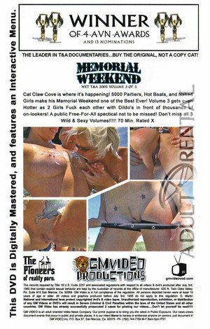 Memorial Weekend Wet T&A 2005 Volume 3 Porn Video Art