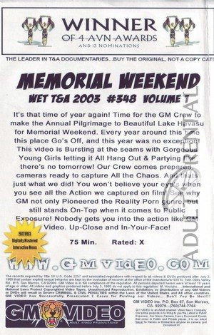 Memorial Weekend Wet T&A 2003 Volume 1 Porn Video Art