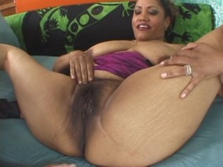 Thick black hairy pussy