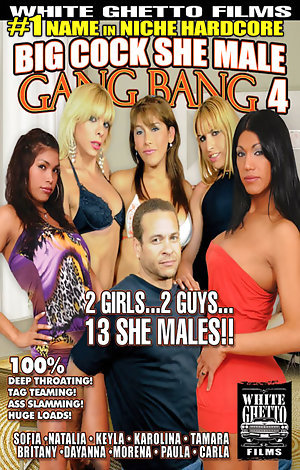 Big Cock She Male Gang Bang #4  Porn Video Art