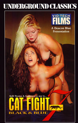 Cat Fight #7 - Black & Blue Porn Video Art